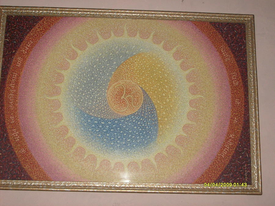 Surya Painting - Power Of  Aum by Neetu Lokesh