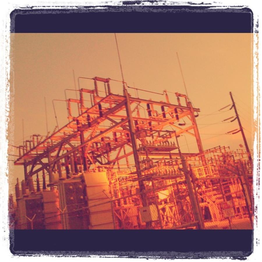 Electricity Photograph - Power Station #miami #juansilvaphotos by Juan Silva