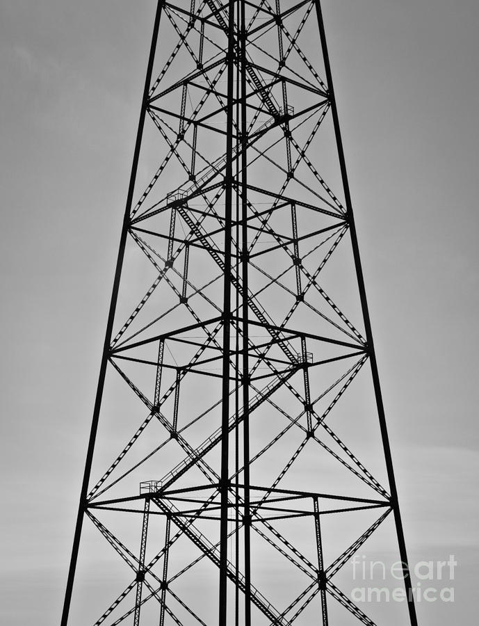 Geometric Pattern Photograph - Power tower by Agata Wisniowska