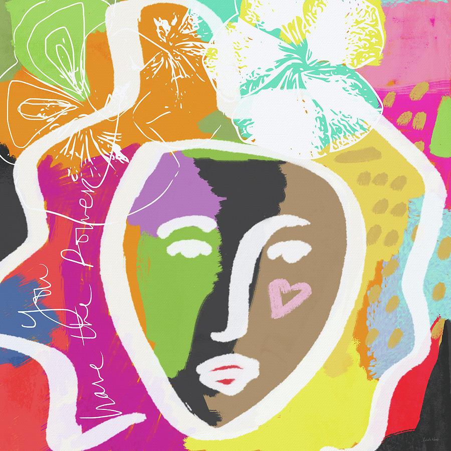 Girl Mixed Media - Powerful Girl- Art by Linda Woods by Linda Woods