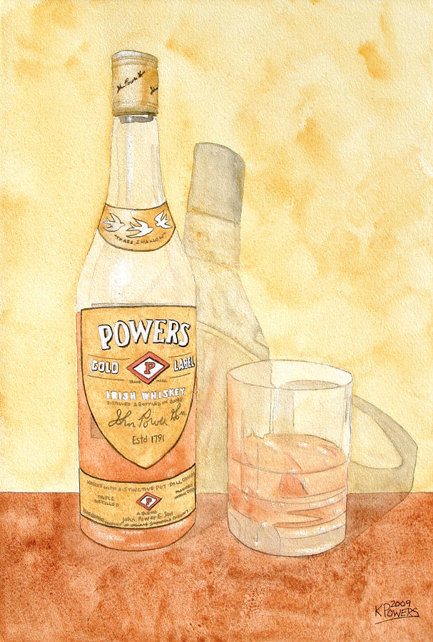 Irish Painting - Powers Irish Whiskey by Ken Powers