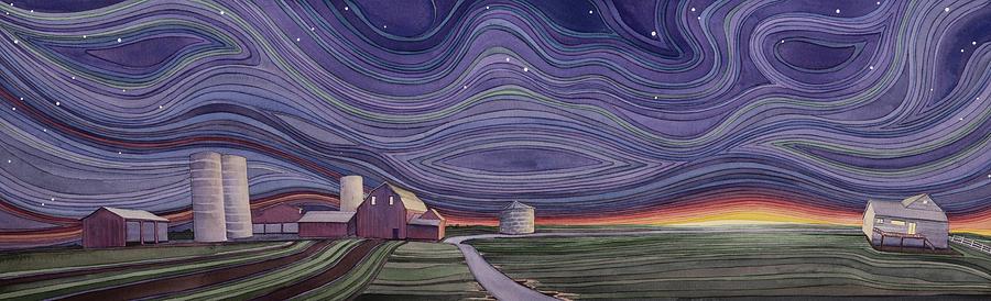 Farm Painting - Powhatten IIi by Scott Kirby