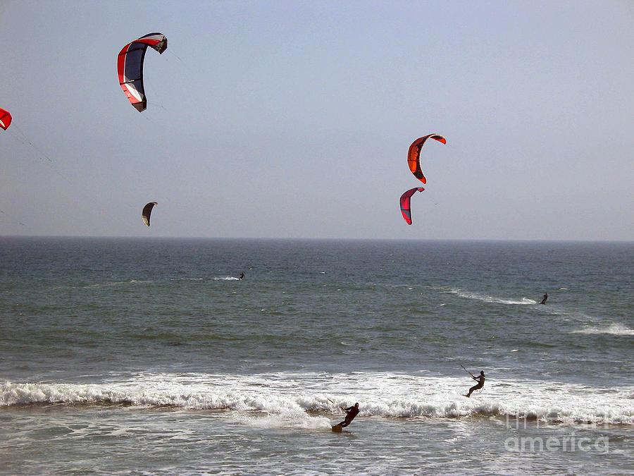 Seascape Photograph - pr 122 - Five Windsurfers by Chris Berry