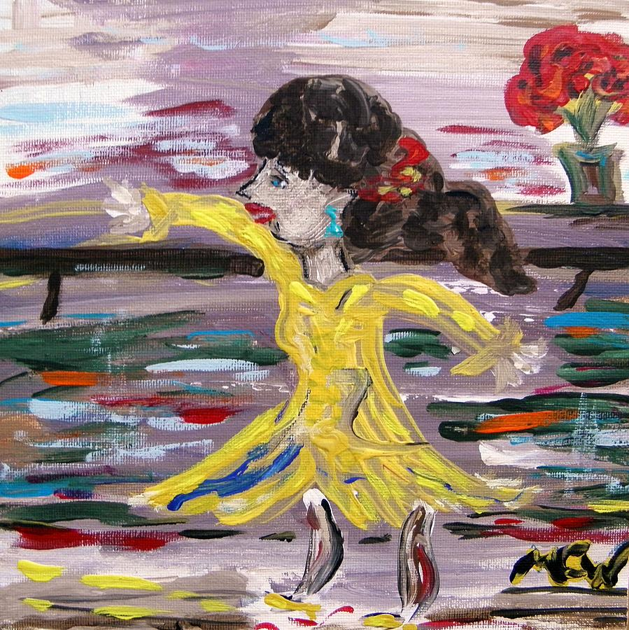 Acrylic Painting - Practice Modern Dance by Mary Carol Williams