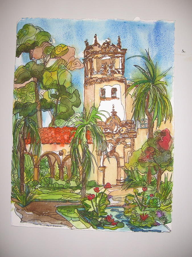Prado- Balboa Park Painting by Michelle Gonzalez
