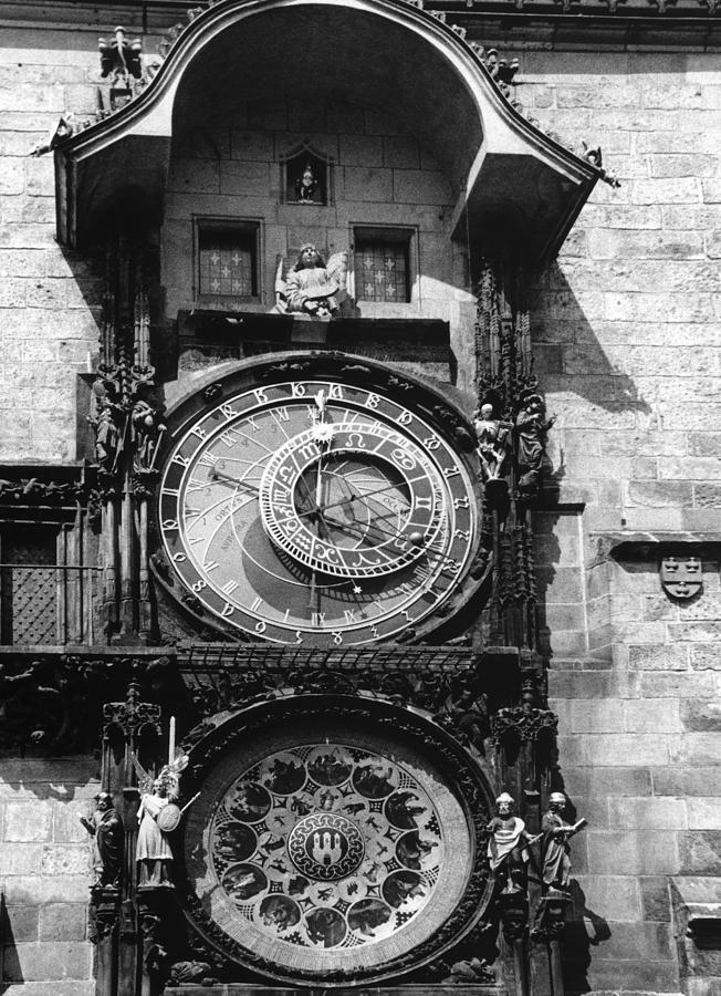 Prague Photograph - Prague Astronomical Clock 1410 by Guido Montanes Castillo