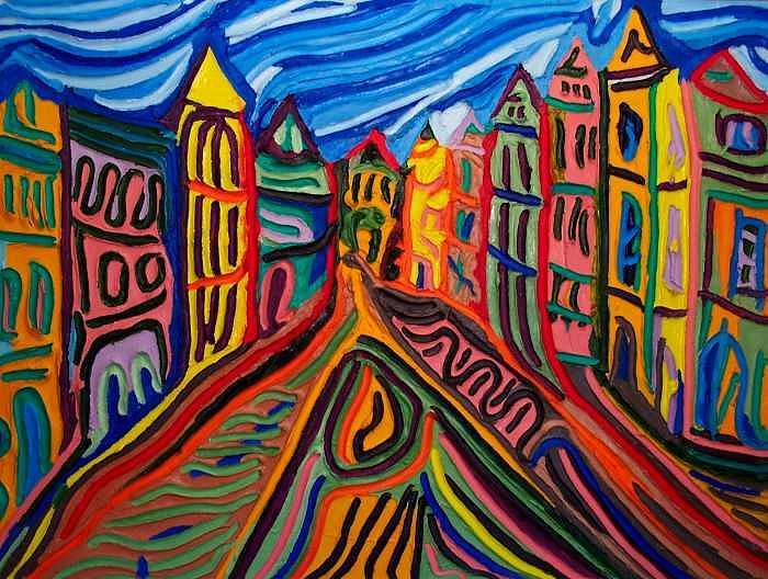 Prague At Noon Painting by Ira Stark