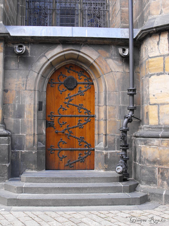 Architecture Photograph - Prague Castle Door And Balcony by Ginger Repke & Prague Castle Door And Balcony Photograph by Ginger Repke