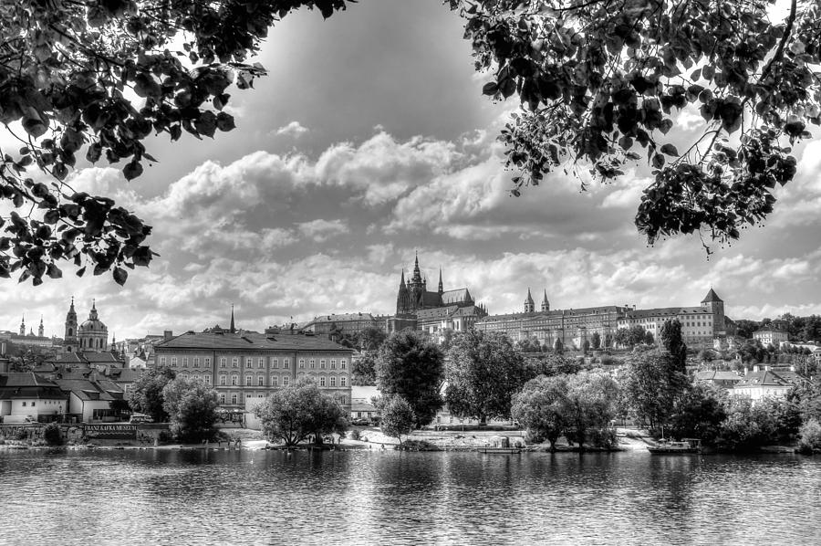 Castle Photograph - Prague Castle in BW by Peggy Berger