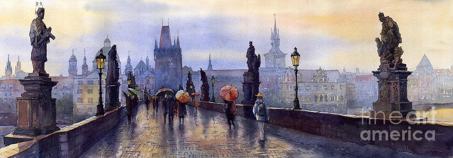 Cityscape Painting - Prague Charles Bridge by Yuriy Shevchuk