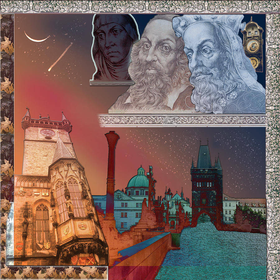 Prague Digital Art - Prague Daydream by John Scariano
