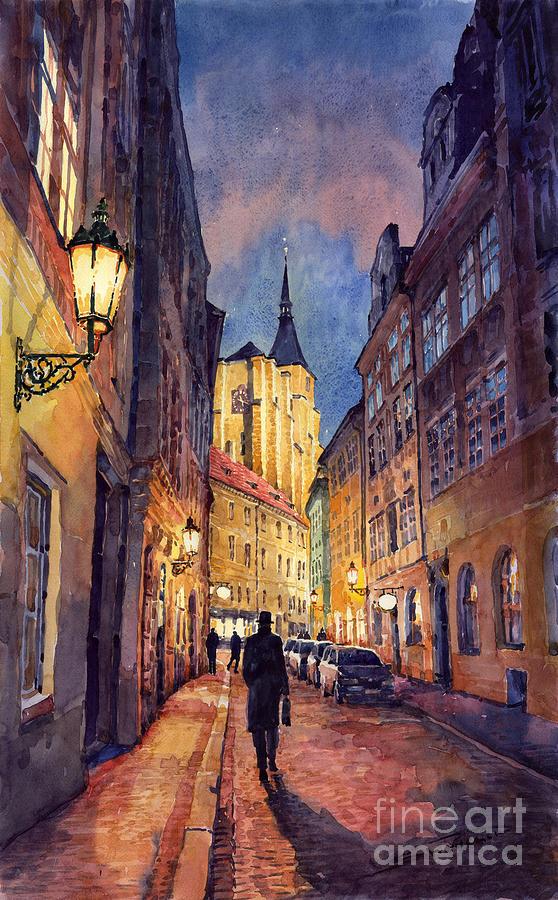 Architecture Painting - Prague Husova Street by Yuriy Shevchuk