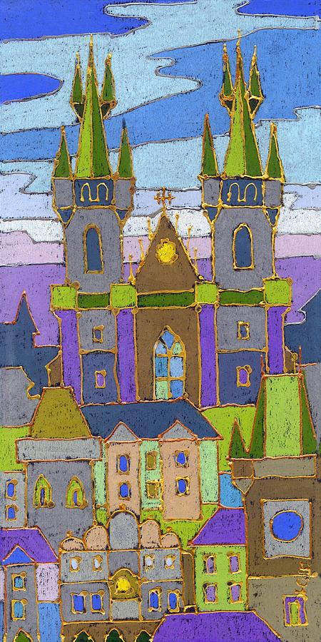 Pastel Painting - Prague Panorama by Yuriy Shevchuk