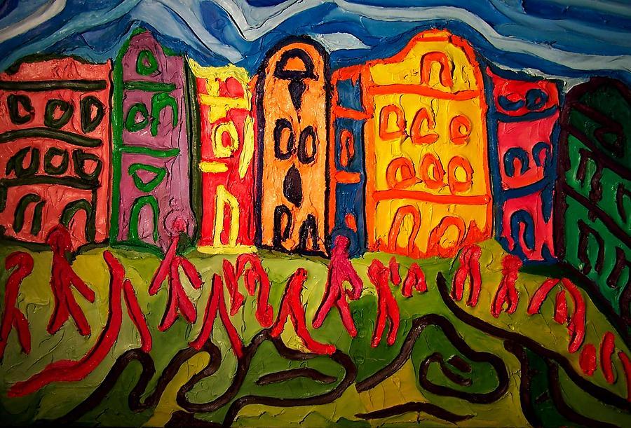 Prague Squared Painting by Ira Stark