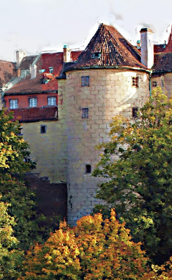 Praha Painting - Praha Castle by Shawn Wallwork
