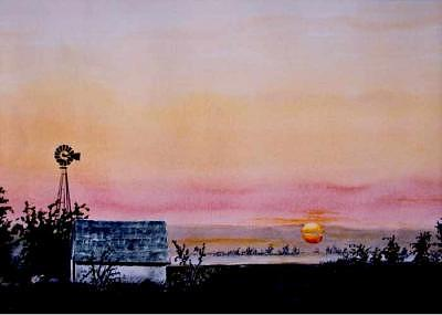 Sunrise Painting - Praire Sunrise by Kris Killman