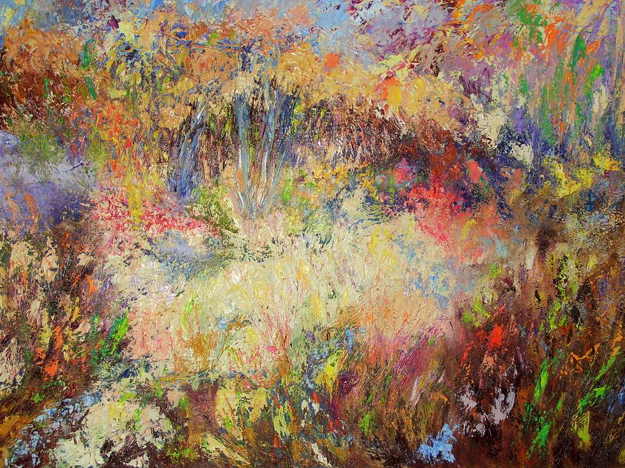 Abstract Painting - Prairie Dance by Rose Fisher