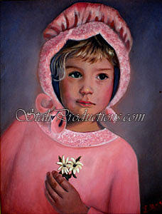 Little Girl Painting - Prairie Girl by Linda Mungerson