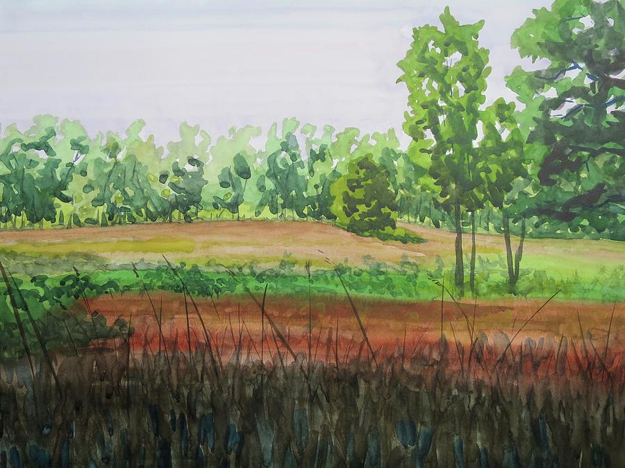 Plein Air Painting - Prairie Grass Field by Bethany Lee