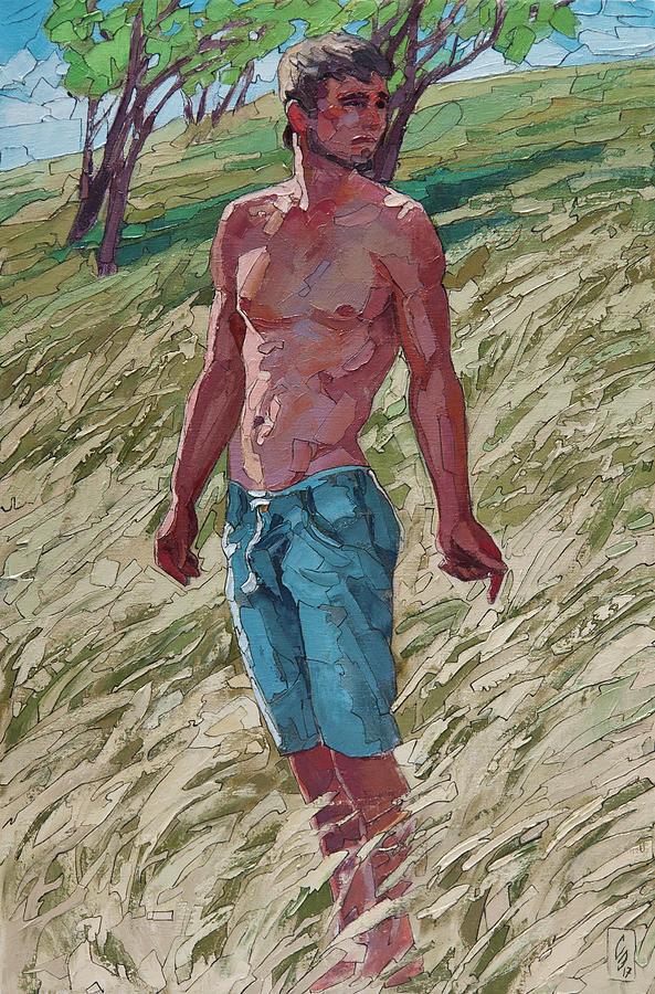 Prairie Grass Painting by Sergey Sovkov
