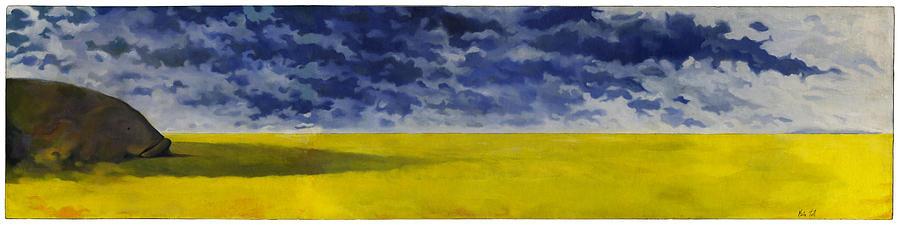 Rheostatics Painting - Prairie Grouper Panorama by Martin Tielli