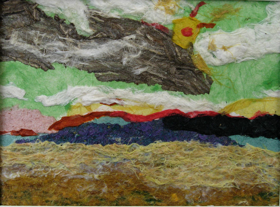 Prairie Harvest Sky Mixed Media by Naomi Gerrard