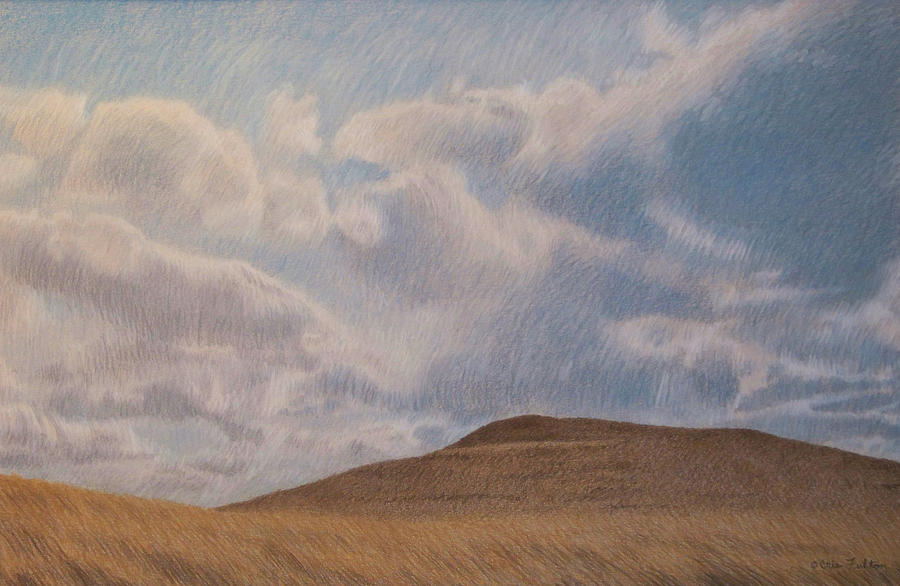 North Dakota Pastel - Prairie Hill by Cris Fulton