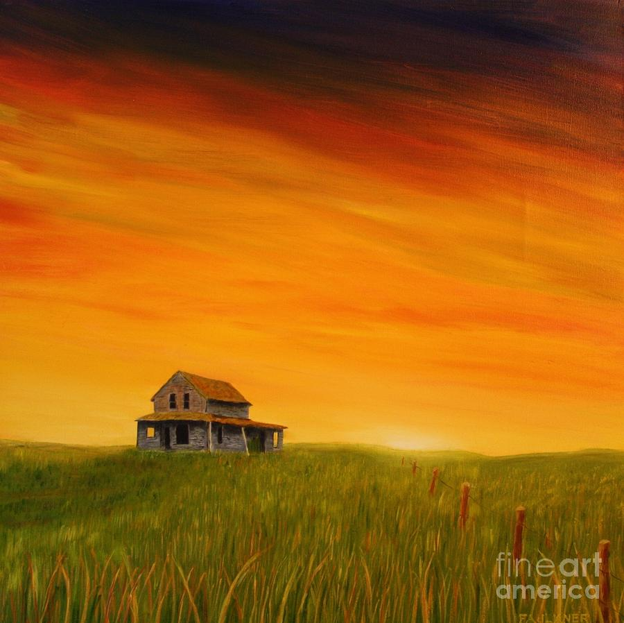 Image result for prairie home at sunset paintings