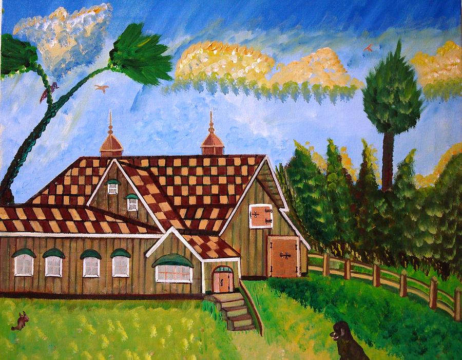 Home Painting - Prairie House by Angelo Ingargiola