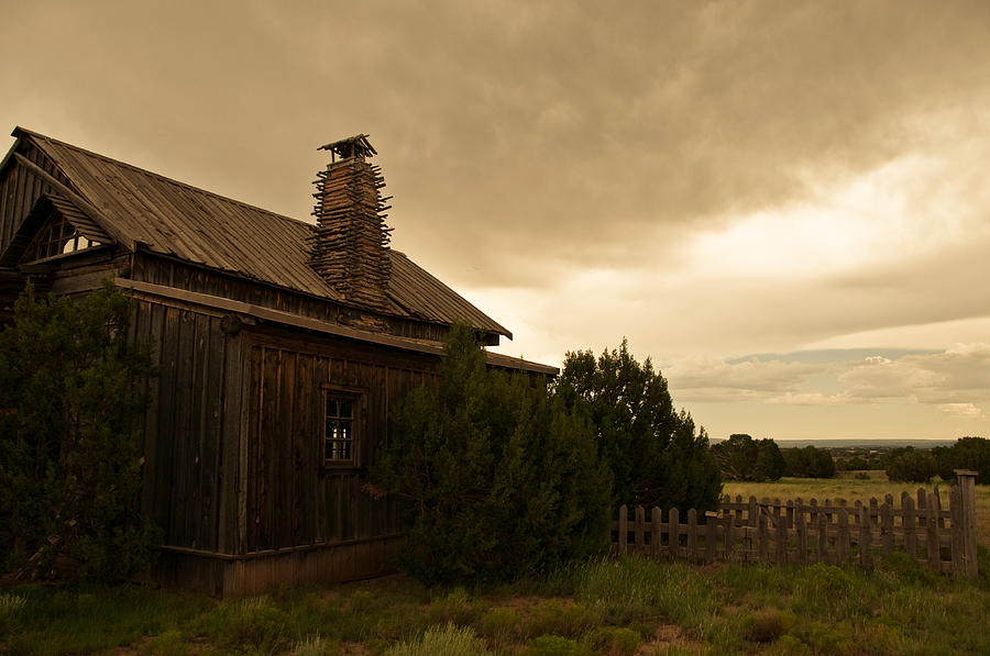 Western Photograph - Prairie House by Fern Logan
