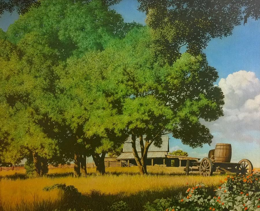 Original Oil Painting Painting - Prairie by Kevin Lawrence Leveque