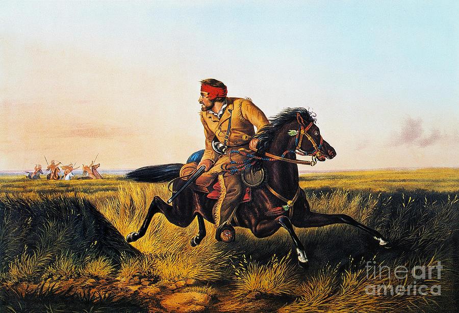 1852 Photograph - Prairie Life, 1852 by Granger