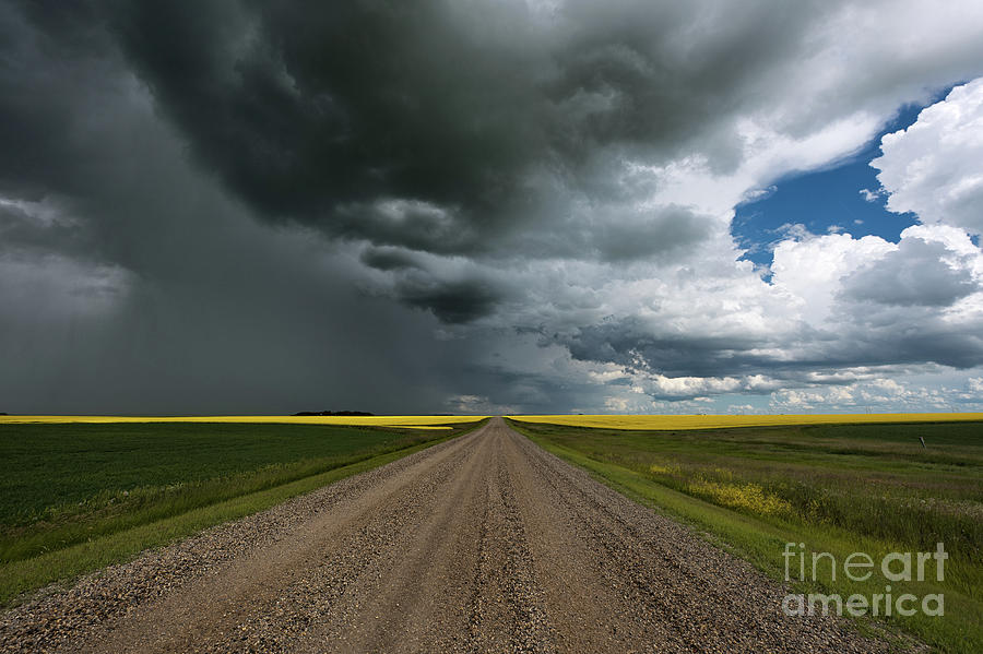 Canada Photograph - Prairie Summer Road by Ian McGregor