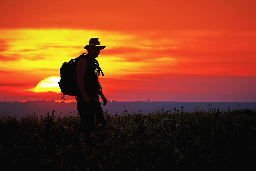 Prairie Photograph - Prairie Sundown by Keith Bridgman