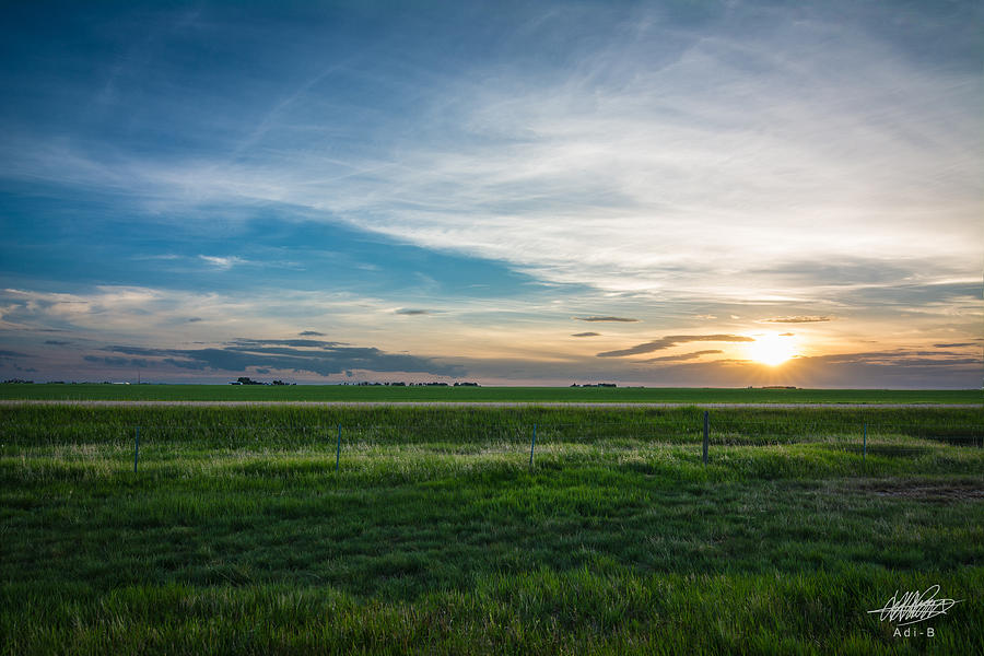 Prairie Sunset Photograph by Adnan Bhatti