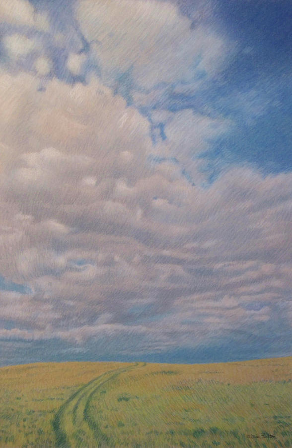 North Dakota Pastel - Prairie Trail by Cris Fulton