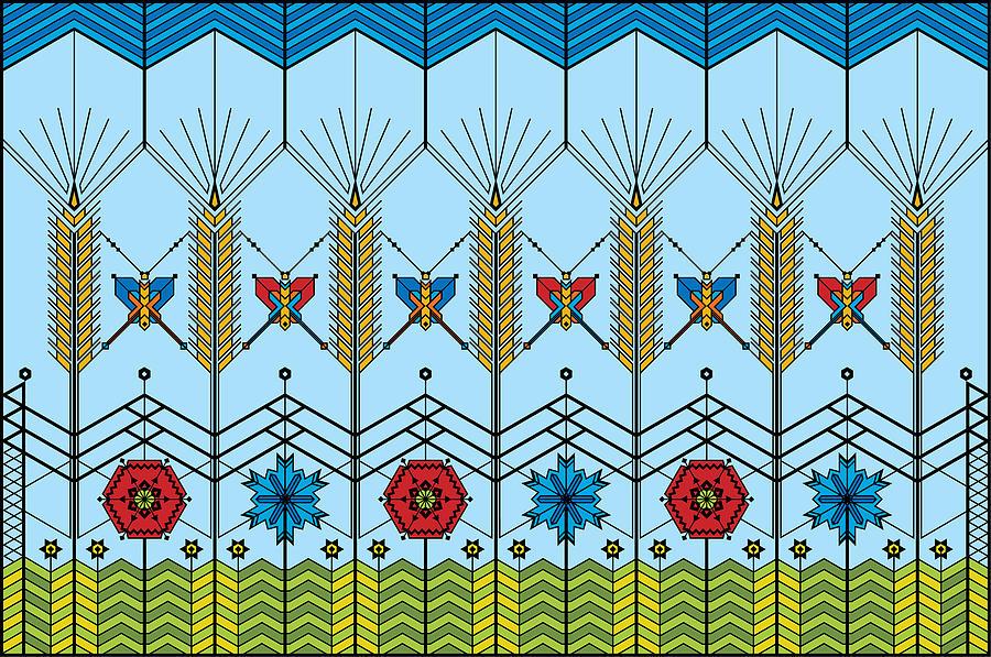 Wheat Digital Art - Prairie Wheat by Vlasta Smola