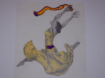 Ballet Dancer Drawing - Praise Dancer by Glenn Isaac