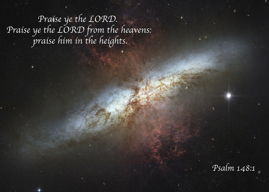 Space Photograph - Praise Him From The Heavens by Michael Peychich