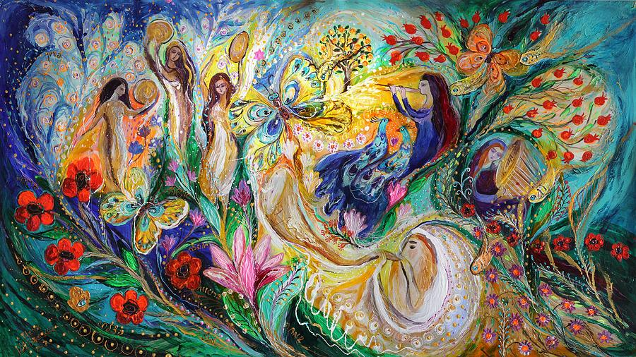 Judaica Store Painting - Praise Him With The Timbrel And Dance by Elena Kotliarker