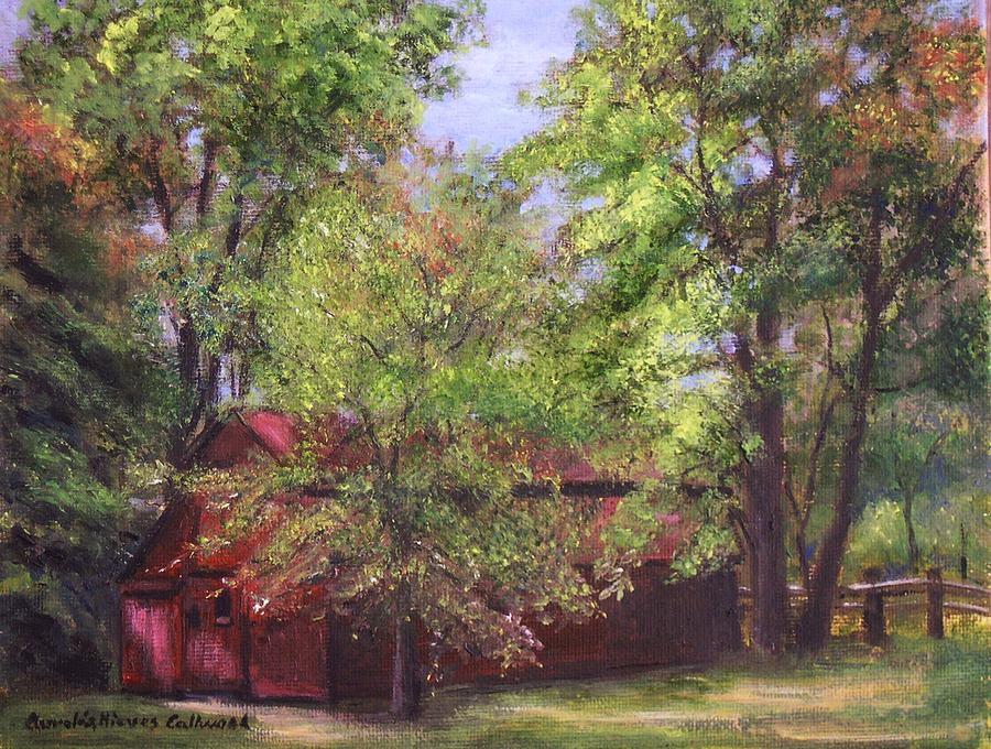 Stockton Painting - Prallsville Mills Stockton Nj by Aurelia Nieves-Callwood