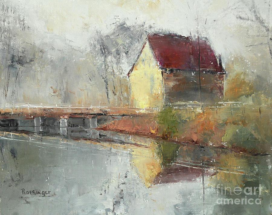 Prallsville Mills Painting - Prallsville Mills, Stockton NJ by Cindy Roesinger