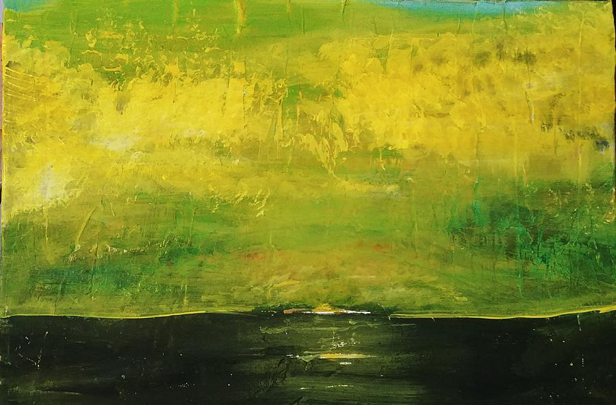 Prarie At Sunrise Painting
