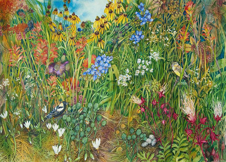 Prairie Painting - Prarie IIi by Helen Klebesadel