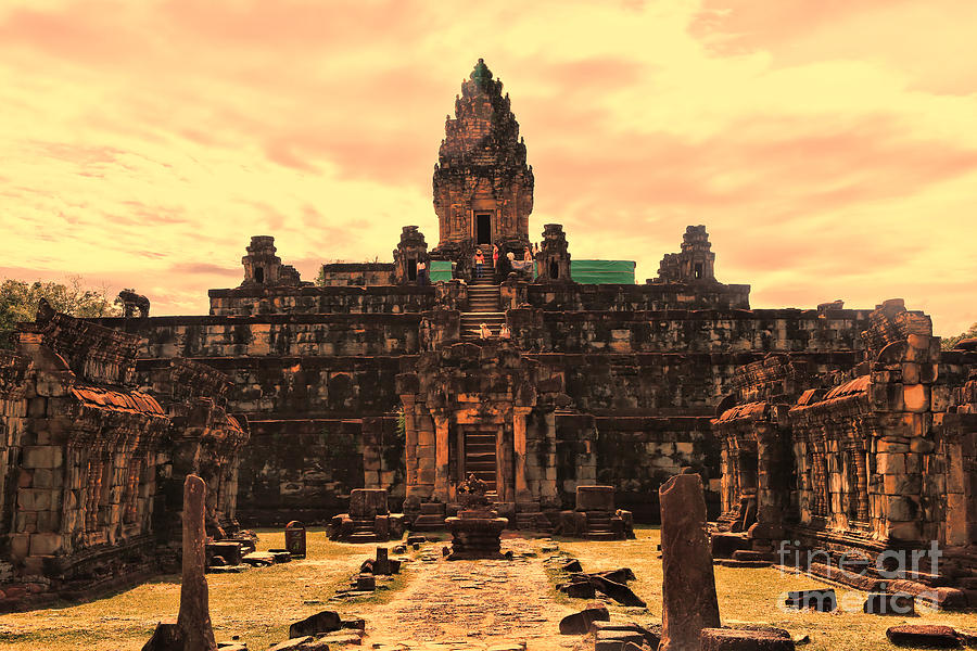 Cambodia Photograph - Prasat Bakong Temple I by Chuck Kuhn
