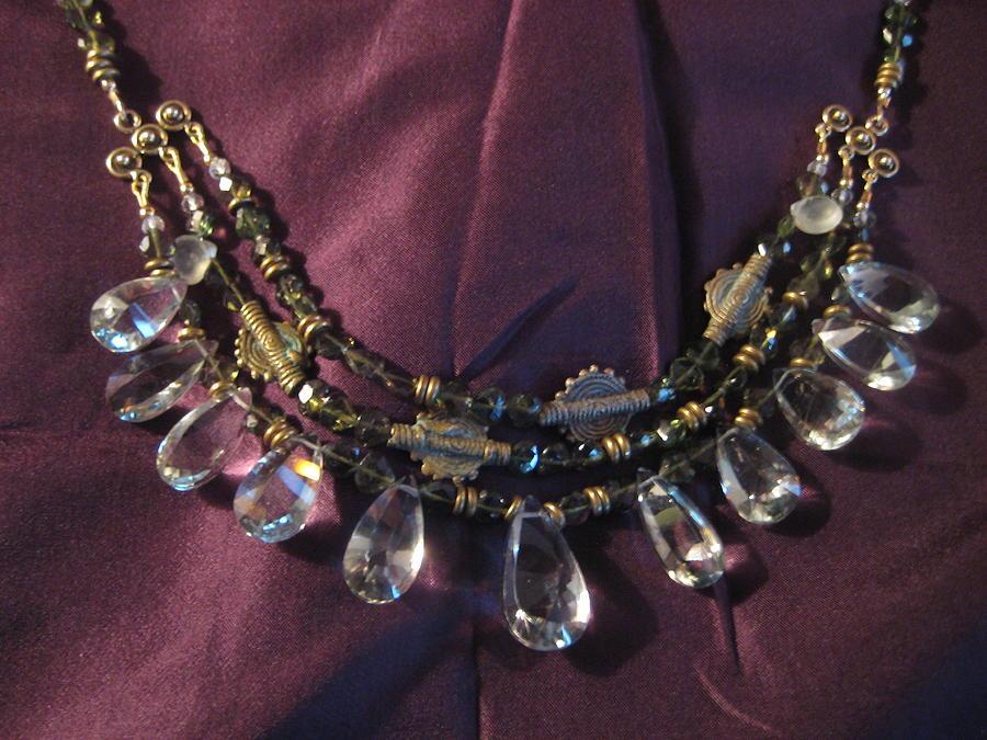 Prasiolite Jewelry - Prasiolite And Tourmaline Necklace by Jan Durand