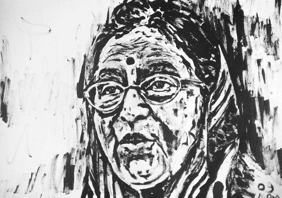 Pratibha Patil -india  Painting by Alireza Mobtaker