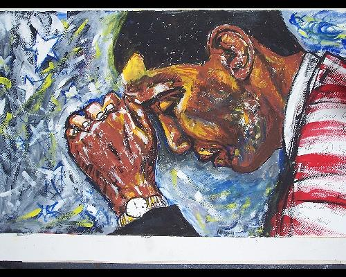 Representational Painting - Pray For America by Darryl Hines