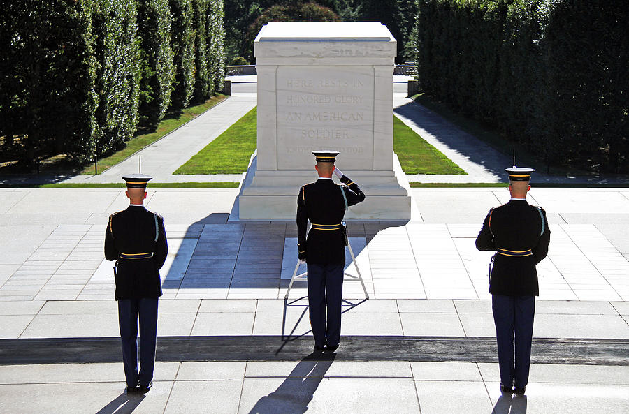 Tomb Of The Unknown Soldier Photograph - Pray For Peace by Mitch Cat