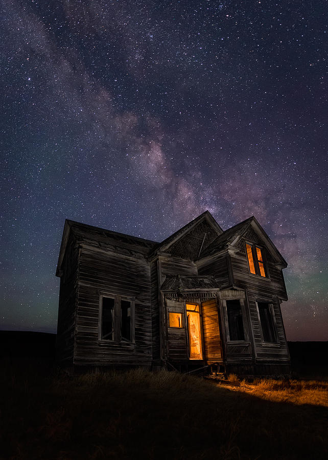 Night Photograph - Pray Nobody Is Home by Miles Morgan